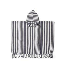 Liewood Roomie poncho - Stripe: Navy/Creme de la creme 1/2Y