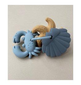 Liewood Tonk mini teethers 3pack - Blue multi mix