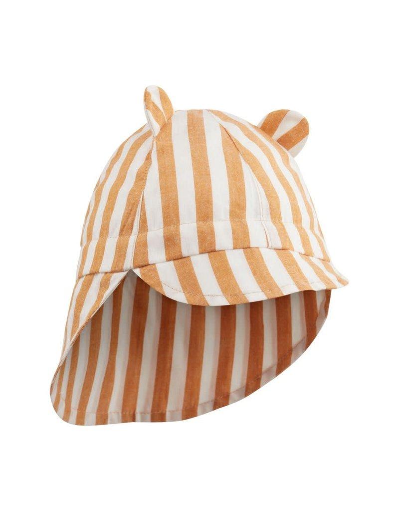 Liewood Chapeau de soleil stripe mustard creme de la creme