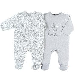 Noukies Pyjama duo pack jersey gris M56