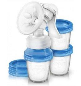 Avent Tire-lait manuel naturel avec 3 conteneurs de stockage
