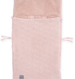 Jollein Voetenzak groep 0+ 3/5 punts River knit pale pink
