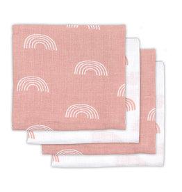 Jollein Chiffon multi hydrophile small 70x70cm Rainbow blush pink (4pack)