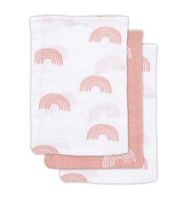 Jollein Hydrofiel washandje Rainbow blush pink (3pack)