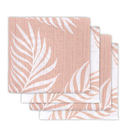 Jollein Hydrofiel multidoek small 70x70cm Nature pale pink (4pack)