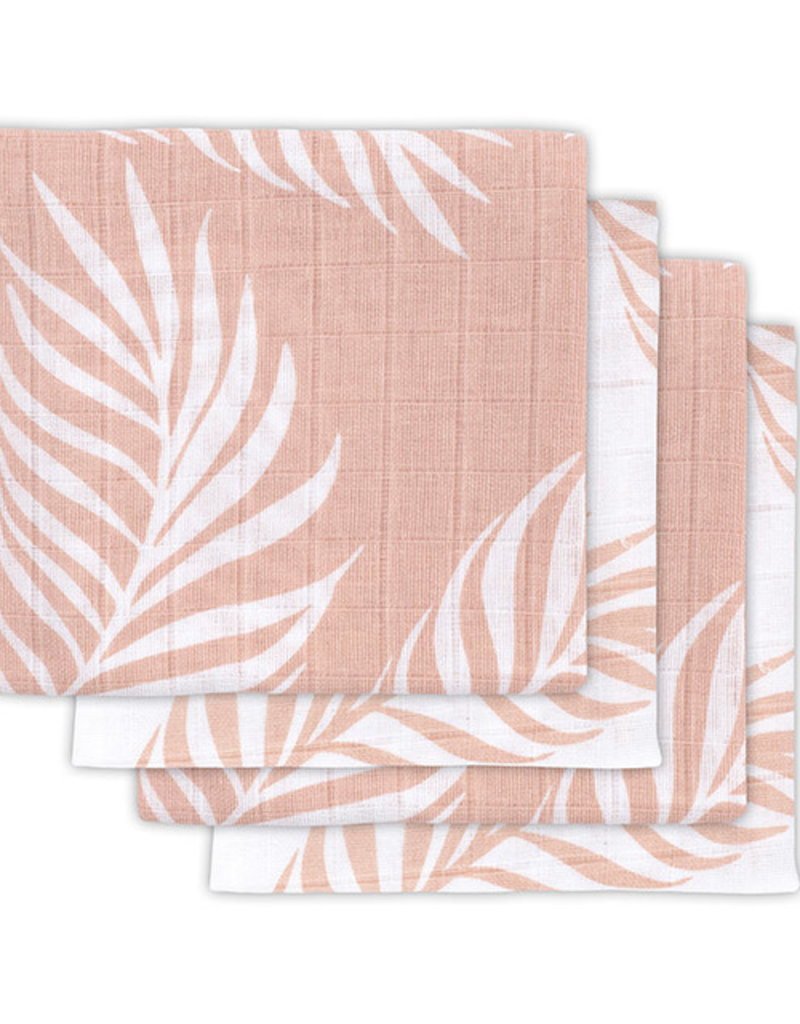 Jollein Chiffon multi hydrophile petit 70x70cm Nature pale pink (4pack)