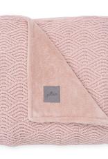 Jollein Couverture 75x100 cm River knit pale pink/coral fleece