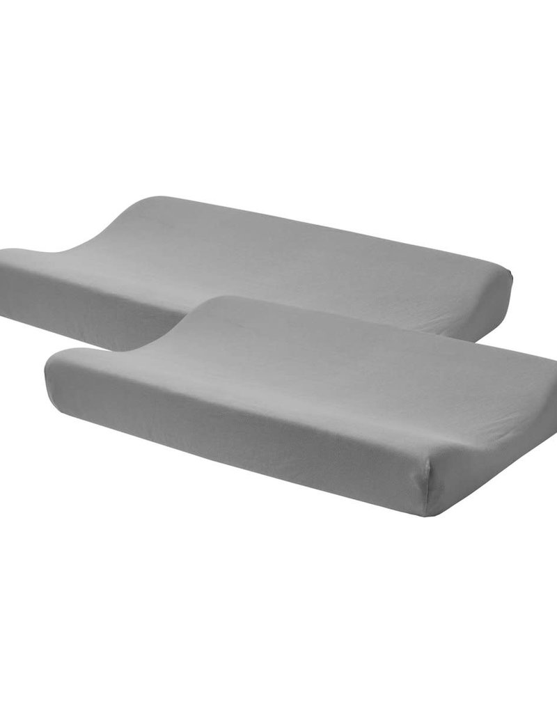Meyco Aankleedkussenhoes 2-pack Basic jersey grijs