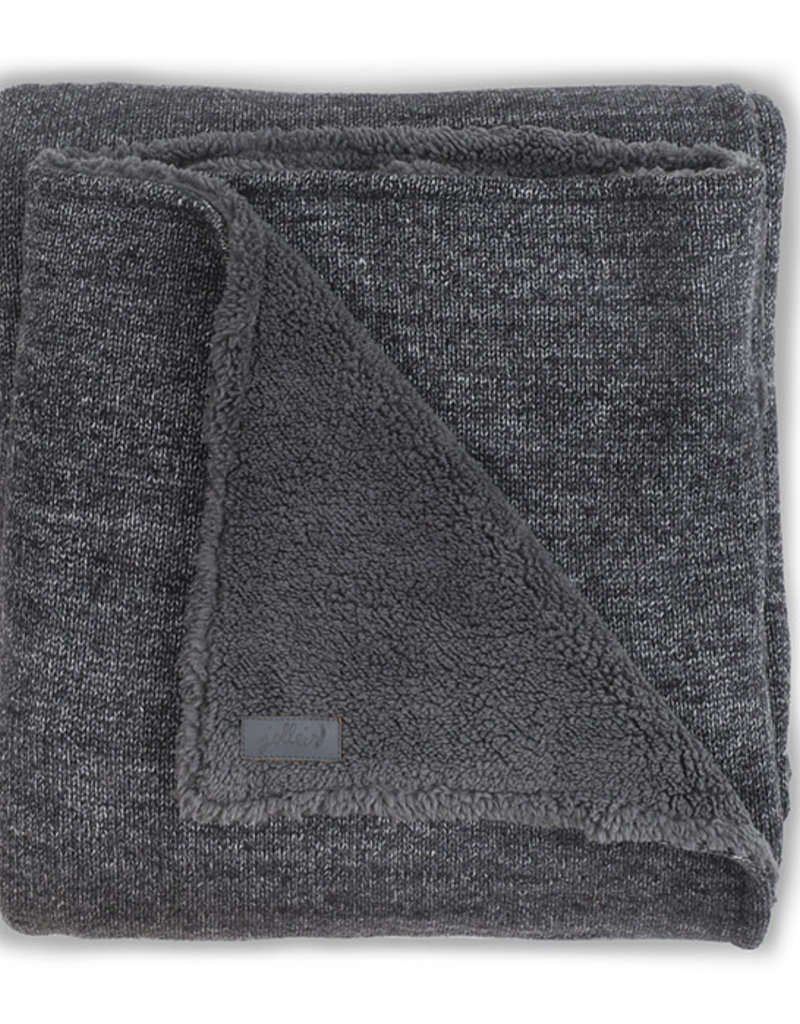 Jollein Couverture 100x150cm Natural knit anthracite / teddy