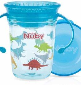 Nuby Oefenbeker Wonder Cup 360° met handvaten - 240ml dino