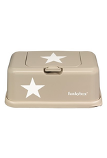 Funky box Boîte à mouchoirs étoile beige