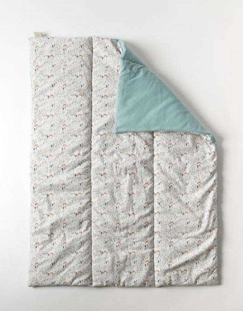 mundo melocoton Couverture matelassée / Tapis de jeu Foxy 75x95 cm