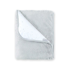 Bemini DEKEN / 75x100cm / sterretjesprint lichtgrijs / softy jersey - STARY90SF