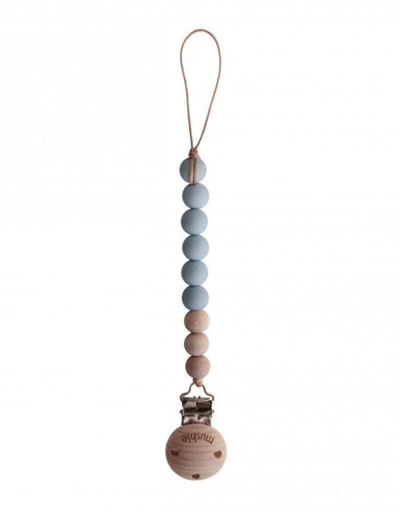 Mushie Chaîne de sucette CLEO Cloud/Wood