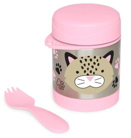 Insulated food jar leopard