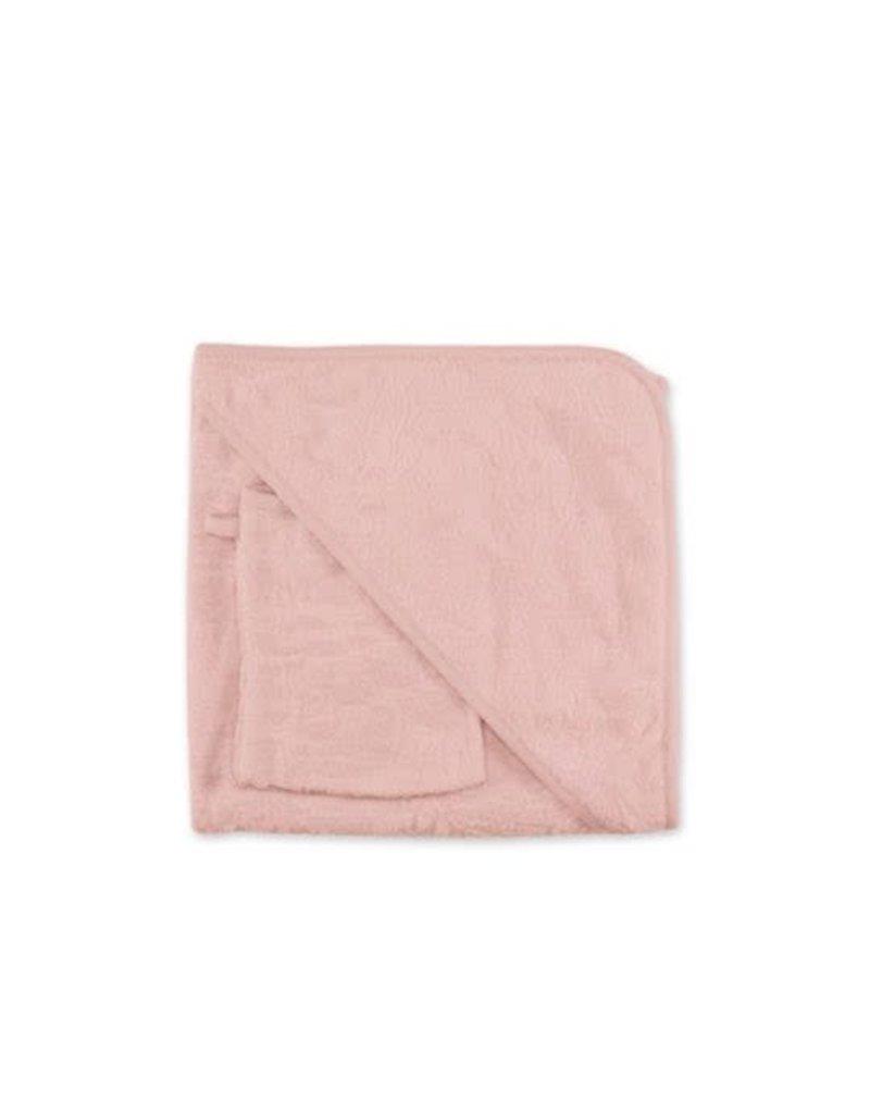 Bemini Badcape 90/90 cm  jacquard IDYLE 44 blush