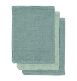 Jollein Zachte washandjes bamboe ash green - 3 pack