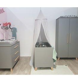 Transland Babykamer Vito grey (bed 60 x 120 omvormbaar - commode - 2 deurskast)