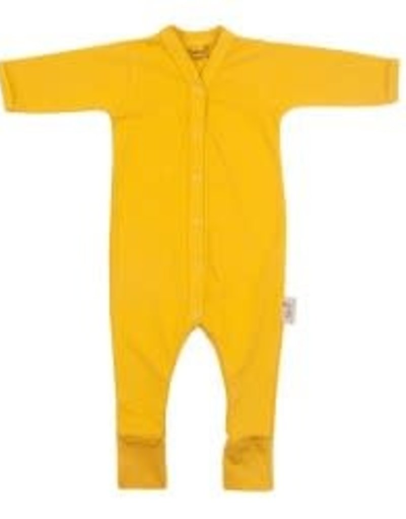 Timboo Babysuit longsleeve with feet ochre