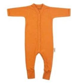 Timboo Babysuite longue tenue avec pieds inca rouille