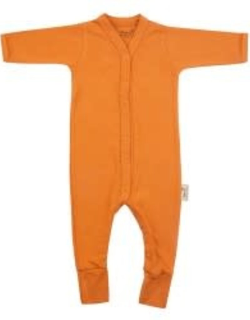 Timboo Babysuite longslevve with feet inca rust
