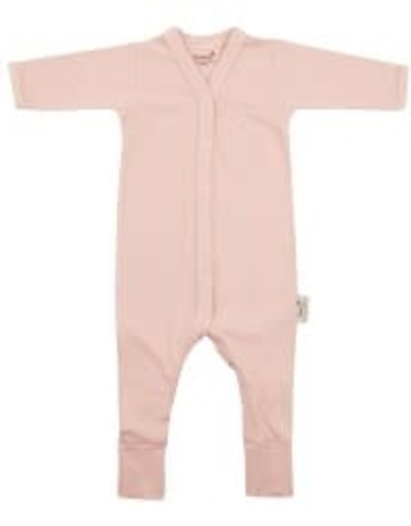 Timboo Baby suit longsleeve with feet misty rose