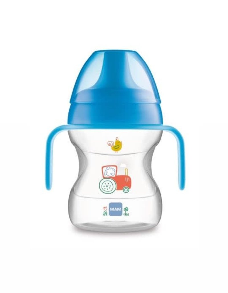 Mam Learn to drink cup 6m+ blauw tractor