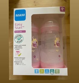 Mam Mam Easy commence anti-collique 2x260ml 0m + chats roses
