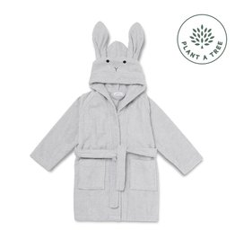 Liewood Lily Bathrobe - Rabbit dumbo grey 3/4 Y