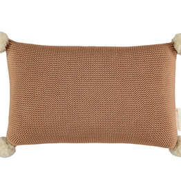Nobodinoz So Natural knitted cushion • Biscuit