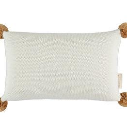 Nobodinoz So Natural knitted cushion • Milk