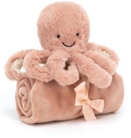 JellyCat Soother octopus roze
