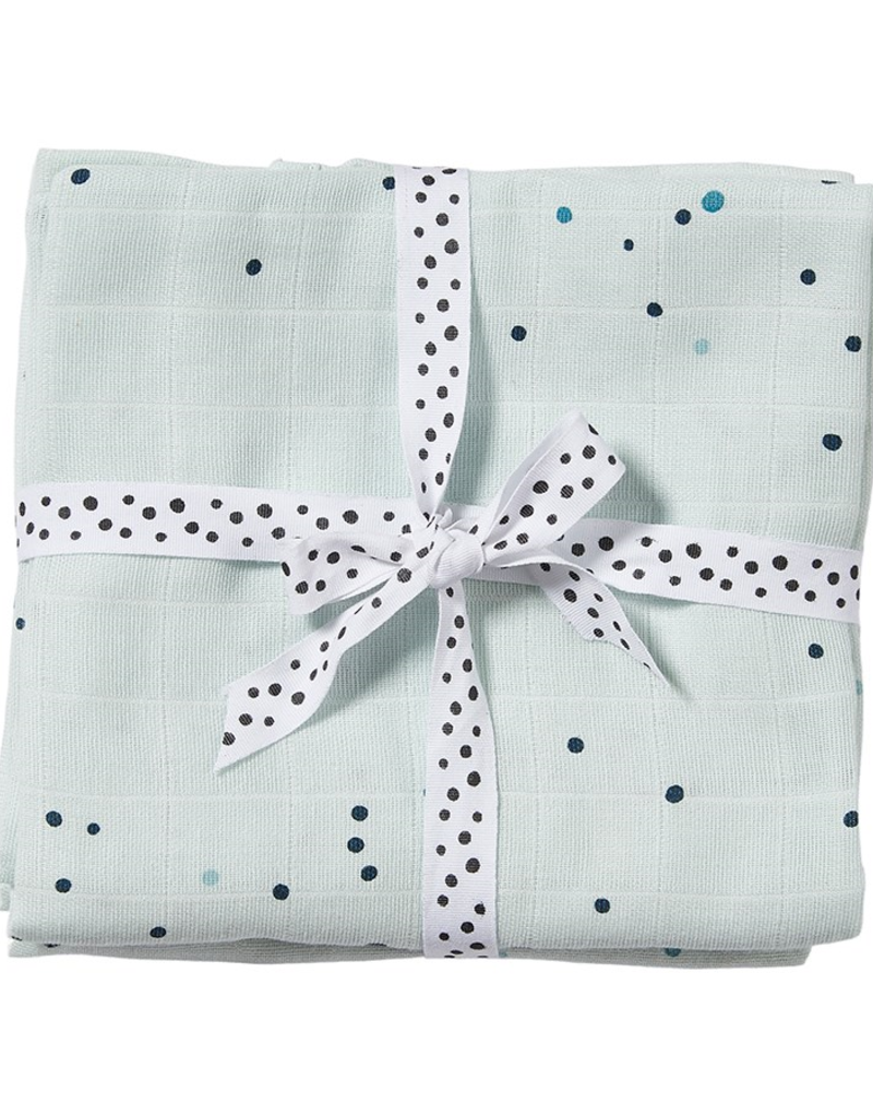Done by Deer Burp Cloth Dreamy dots blue