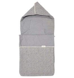 Koeka Baby voetenzak flanel Vigo 3/5 punts Sparkle grey/steel grey
