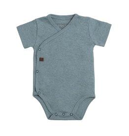 Baby's Only Rompertje melange 50 stonegreen