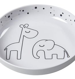 Done by Deer Yummy mini plate Dreamy dots Grey