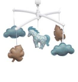 Pouce et Lina Mobile poney bleu / chameau