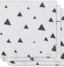 Jollein Serviettes de bouche hydrophile Indians Black & White 3 pcs