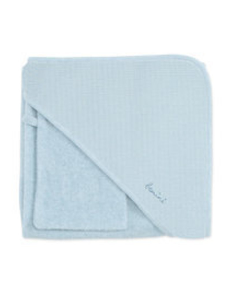 Bemini Badcape / 90x90cm / blauw grijs / terry - CADUM64TU
