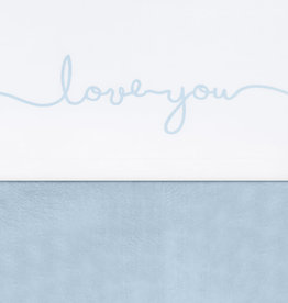 Jollein Laken 75x100cm Love you soft blue