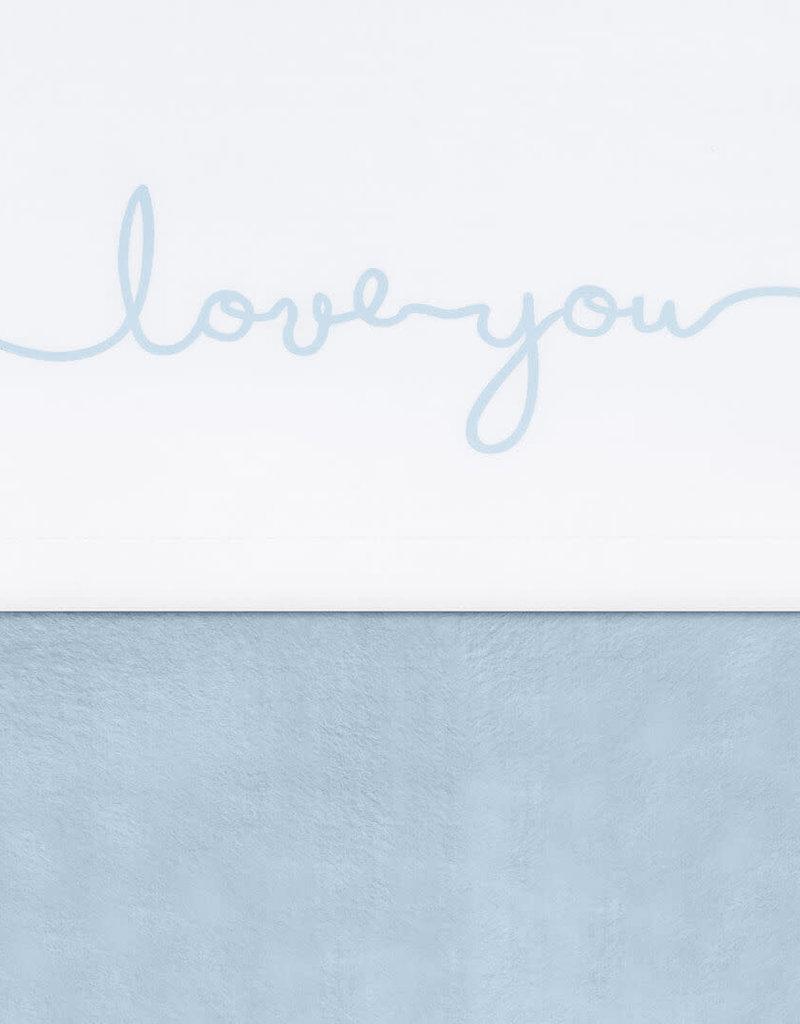 Jollein Laken 75x100cm Love you soft blue