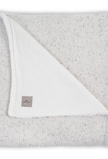 Bemini Deken 100x150cm Confetti knit natural /coral fleece