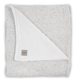Bemini Couverture100x150cm Confetti knit natural /coral fleece