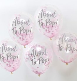 Ginger Ray Confetti balloons about to pop pink 5x