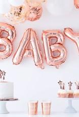 Ginger Ray Balloon bunting rose fold 'baby'