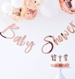 Ginger Ray Bunting rose gold 'Bbay shower'