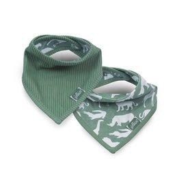 Jollein Bavoir bandana Safari forest green (2pack)