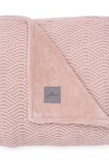 Jollein Couverture 100x150cm River knit pale pink/coral fleece