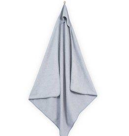 Jollein Badcape 100x100cm velvet terry soft grey