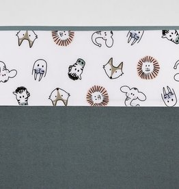 Meyco Drap de lit bébé Animal - 100 x 150 cm - Blanc